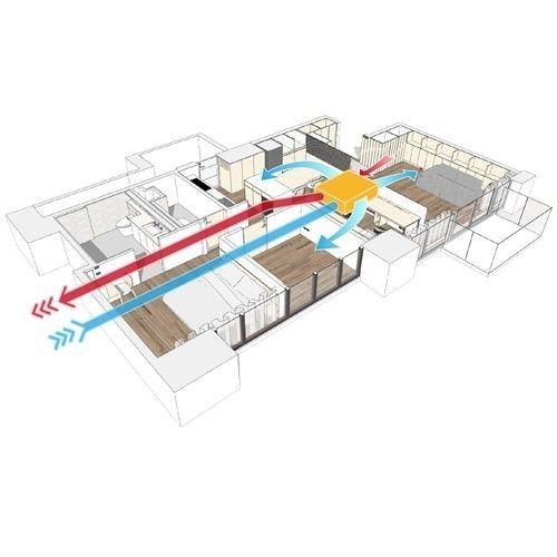 家用全热交换器安装图解(全热交换器原理分析图)